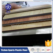 PVC transparent layer antifouling wood grain pvc flooring