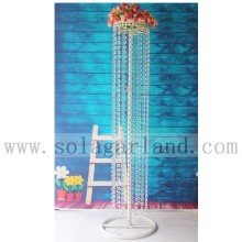 "39 ""centre de table de lustre de table de mariage blanc"