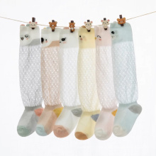 6 colors mesh breathable cool knee high baby mesh summer sock