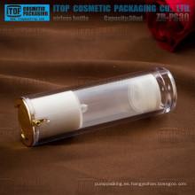 Productos principales recomendados especiales de ZB-PS30 30ml doble botella privada de aire de acrílico cristal de capas