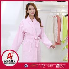 wholesale price hotel 100% cotton waffle bathrobe