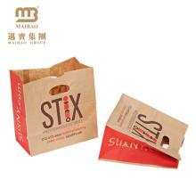Personalizado que imprime la bolsa de papel cortada con tintas de la manija del ultramarinos de Brown Kraft del embalaje para llevar