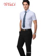 Männer Shirt Bussiness Shirt Bluse Mann Anzug Shirt Kurzarm