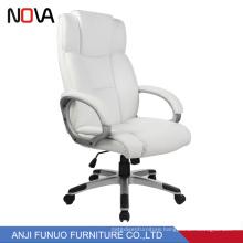 Nova High Back White Leather Racing Gas Lift Korea office visitor chair
