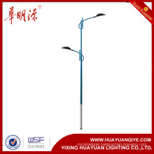 decorative and antique street lighting poles with arms and powder coating