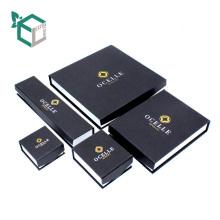 Benutzerdefinierte handgefertigte Ring Box Schmuck Verpackung mit Deckel