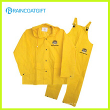 PVC/Polyester Industrial Safety Police Raincoat