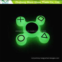 Sillicone Glow in Dark Fidget Symbol Hand Spinner Adhd EDC Focus Anxiety Toy