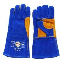 Скрытые кожаные рабочие рабочие сварочные рабочие перчатки