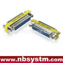 Db25 pin fêmea para db25 pin adaptador fêmea, troca de gênero azul