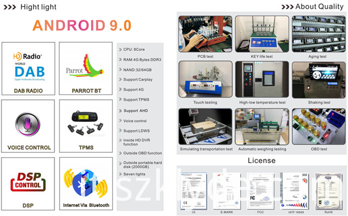 Honda CRV Android 9 Car DVD
