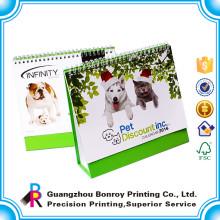 Китай сделал хорошее качество горячей продажи любимой пользовательские красочные собаки любимчика печатание календара