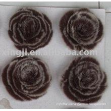 China proveedor real rex flores de piel de conejo