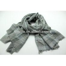 Bufanda de algodón a cuadros para hombre