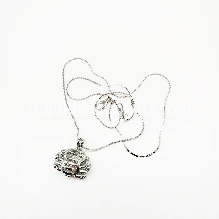 Cancer Cage Pendant With Necklace