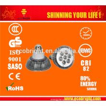 CE rohs, luz del led, proyector de alta calidad led 7w led bombilla par30, e27 led lámpara