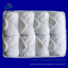 High quality airline refreshing hot disposable towel Airline refreshing hot towels 100% cotton disposable lemon scented for airplane aviation use