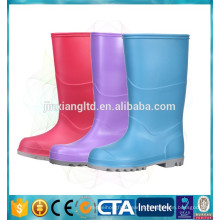 Pvc водонепроницаемая обувь цветные сапоги дождя для детей
