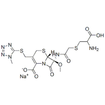 5-Thia-1-azabicyclo[4.2.0]oct-2-ene-2-carboxylicacid,7-[[2-[[(2S)-2-amino-2-carboxyethyl]thio]acetyl]amino]-7-methoxy-3-[[(1-methyl-1H-tetrazol-5-yl)thio]methyl]-8-oxo-,sodium salt (1:1),( 57261740,6R,7S)- CAS 75498-96-3