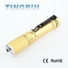 Lampe torche torche de poche amovible minable réglable 3w