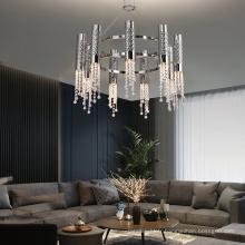 Lustre en cristal de cuivre de l'hôtel Gu10 d'intérieur de style nouveau