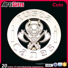 New promotional products unique silver metal coin