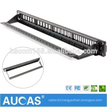 """hot sell systimax rj45 /AMP 24 port UTP 23AWG 19"""" 1U /wall mounted krone IDC shielded patch panel"""