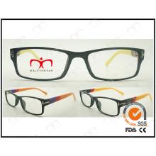 Mode et lunettes de lecture unisex vendues chaudes avec Temple coloré (LZ910)