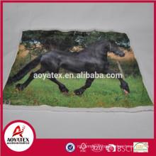 couverture de micromink d'impression de photo avec l'arrière de sherpa