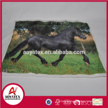 photo print micromink blanket with sherpa backside