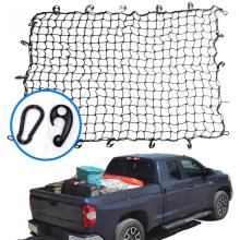 "68"" x 45"" Elastic Black Bungee 4x4 Cargo Cover Net For Car With Plastic Hook And Carabiner"