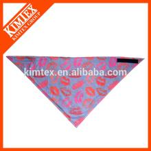 Brand unique cotton triangle printed custom logo bandana