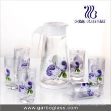 Thermal Transfer Printed Glass Water Set