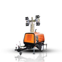 User-friendly control panel lighting portable generator mobile light tower