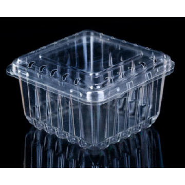 Transparent fruit packaging boxes are made of PET