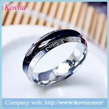 Forever love mens ring titanium steel black ring white gold metal O ring