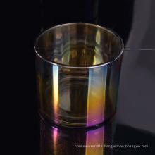 Electroplating Candle Holder Glass with Shiny Colors