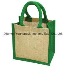 Moda sobre la cuerda de la tela de algodón Handle Jute Gift Bag