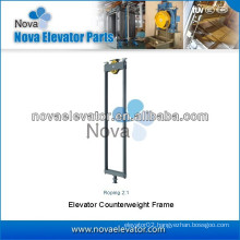Roping 2:1 Elevator Counterweight Frame, Lift Counterweight Frame