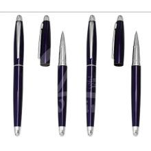 New Dark Blue Slim Metal Gift Pens for Promotion