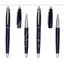 Новые темно-синие тонкие металлические подарочные ручки для промоушена