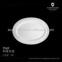 P069 Vajilla de mesa de restaurante japonés y plato de servir de porcelana