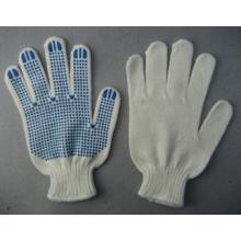 7g weiß Angora Garn String stricken Arbeitshandschuh PVC Punkte (2481)