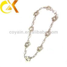 Wholesale stainless steel jewelry silver women's flower choker necklace