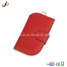 Red Leather Casing USB Flash Drive (JL17)