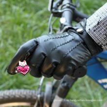 Schwarzes Handgelenk Schaffell Mann Fahren Leder Handschuhe in Aliababa