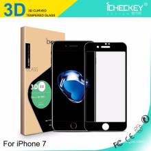 Protecteur d'écran en verre trempé en fibre de carbone 3D pleine couverture pour Iphone7