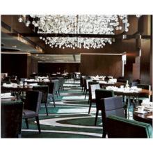 Gepolsterter Armlehnstuhl aus schwarzem Leder Hotelmöbel zum Verkauf (FOHCF-0079)
