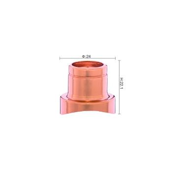 Customized gold aluminum collar for perfume bottle cap