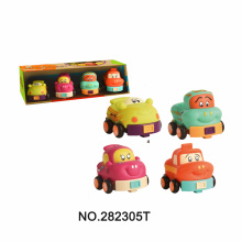 Pack of 4 Cartoon Cartoon Car Toys